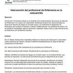 Intervención del profesional de Enfermería en la osteoartritis