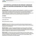 La incidencia y prevalencia del síndrome confusional agudo en pacientes postoperados de Cirugía Cardiaca