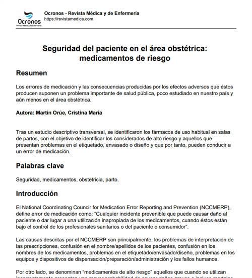 seguridad-del-paciente-area-obstetrica-medicamentos-riesgo