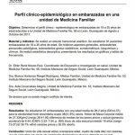 Perfil clínico-epidemiológico en embarazadas en una unidad de Medicina Familiar