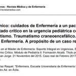 Cuidados de Enfermería a un paciente en estado crítico en la urgencia pediátrica con politraumatismo