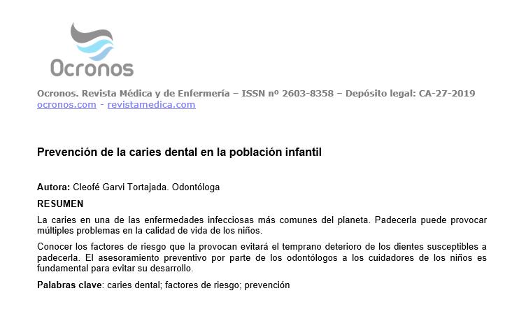 dieta y caries dental pdf)