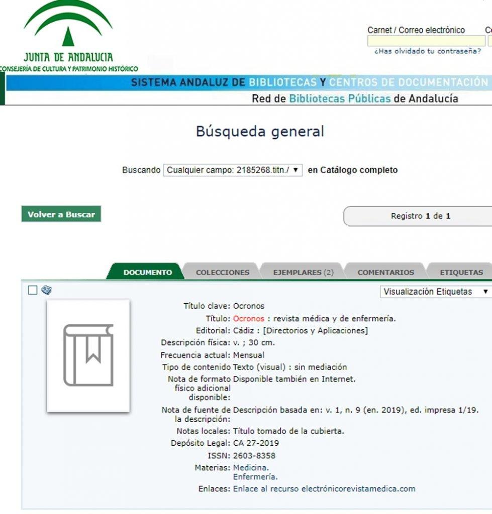 Red de Bibliotecas Públicas de Andalucía. Sistema Andaluz de Bibliotecas y Centros de Documentación